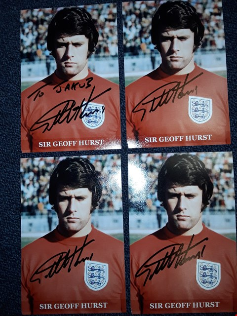 Lot 6 4 SIGNED SIR GEOFF HURST PHOTOGRAPHS