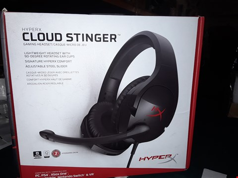 Lot 983 HYPEX CLOUD STINGER GAMING HEADSET