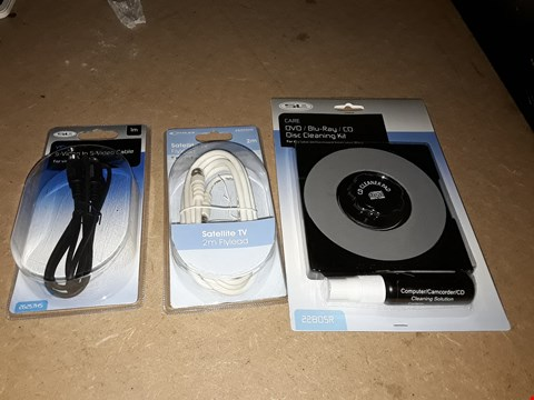 Lot 868 PALLET OF ASSORTED ITEMS TO INCLUDE SATELLITE TV FLYLEAD, S-VIDEO TO S-VIDEO CABLE AND DVD/CD CLEANING KIT ECT