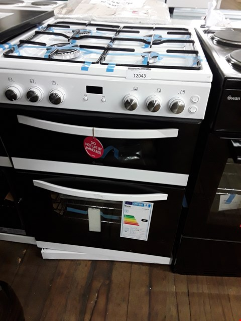 Lot 12043 SWAN DOUBLE CAVITY GAS COOKER WHITE