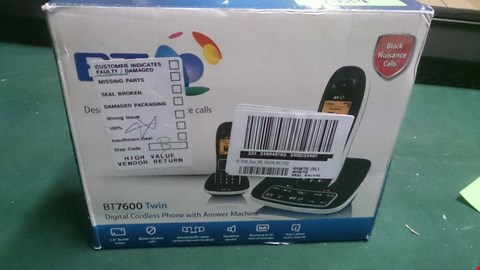 Lot 1524 BT 7600 TWIN DIGITAL CORDLESS HOME PHONE WITH ANSWERPHONE  RRP £109.00
