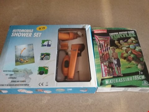 Lot 3032 10 BOXES OF 6x BRAND NEW AUTOMOBILE SHOWER SETS AND 4x TRENAGE MUTANT NINJA TURTLES LILO