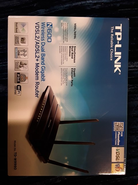 Lot 31 BOXED TP-LINK N600 MODEM ROUTER.