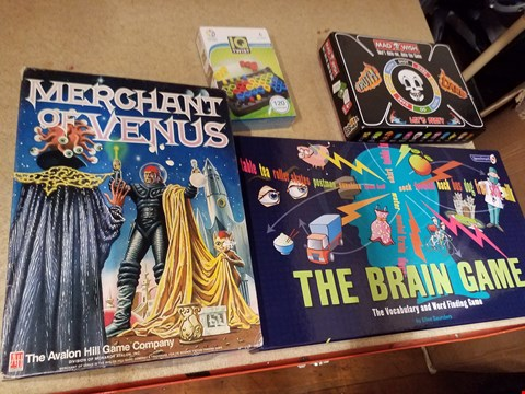 Lot 2034 4 ITEMS TO INCLUDE A IQ TWIST 1 PLAYER PUZZLE GAME AND A MAD WISH TRUTH OR DARE GAME