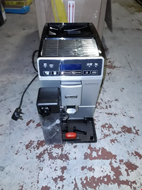 Lot 321 DELONGHI AUTENTICA CAPPUCINO MACHINE