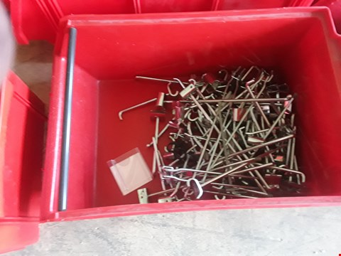 Lot 2042 BOX OF METAL RAILING FITTINGS