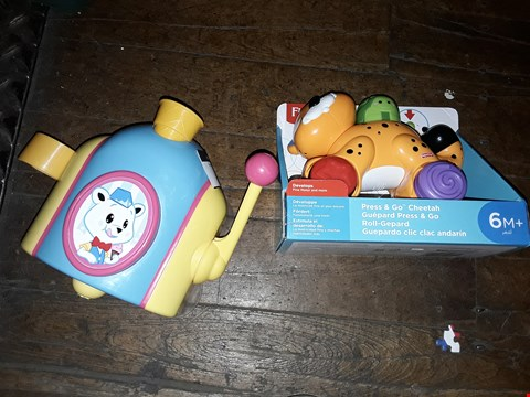 Lot 6073 FISHER PRICE PRESS AND GO CHEETAH AND TOMY ACTIVITY TOY