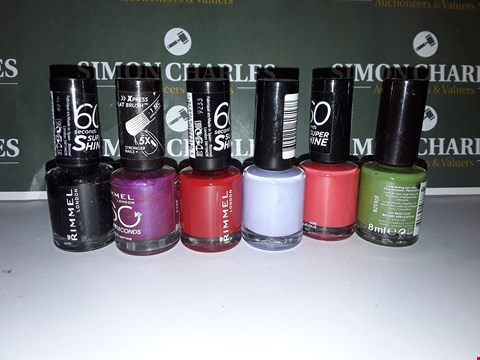 Lot 83 LOT OF 6 ASSORTED RIMMEL LONDON NAIL PRODUCTS