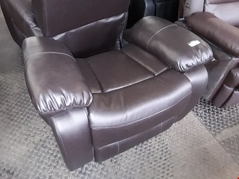Lot 92 CHESTER BROWN LEATHER MANUAL RECLINING MASSAGE CHAIR BASE