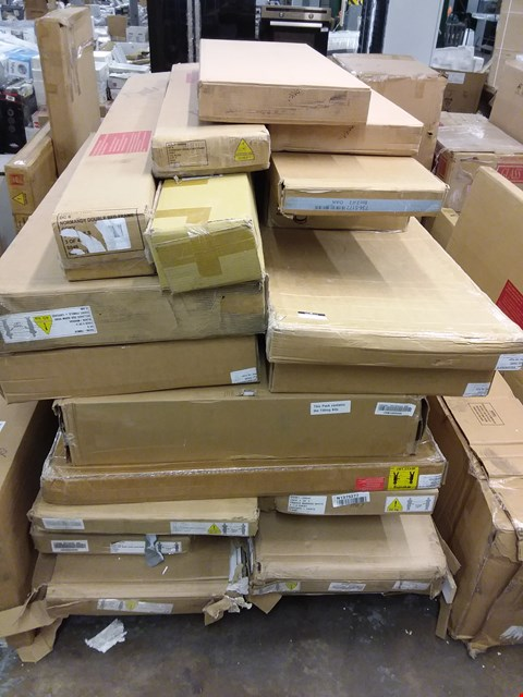 Lot 353 PALLET OF ASSORTED FLAT PACK FURNITURE BOXES