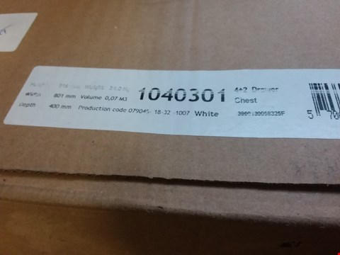 Lot 7055 BOXED WHITE 4+2 CHEST