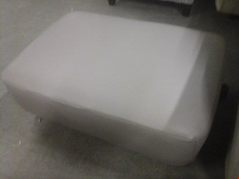 Lot 21 QUALITY BRITISH MADE GREY LEATHER FOOTSTOOL