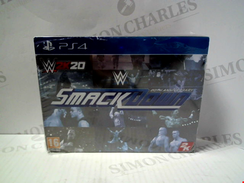Lot 5729 WW2K 20 SMACKDOWN 20TH ANNIVERSARY FOR PLAYSTATION 4