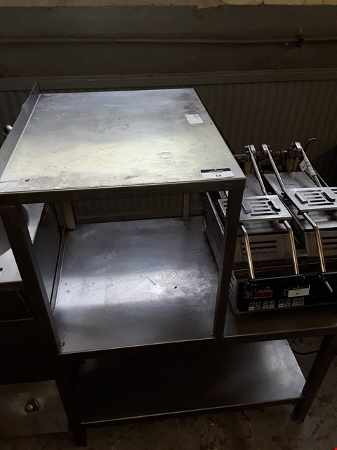 Lot 14 COMMERCIAL DOUBLE MICROWAVE OVEN TABLE
