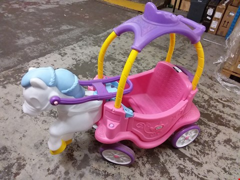 Lot 81 LITTLE TIKES HORSE AND CARRIAGE
