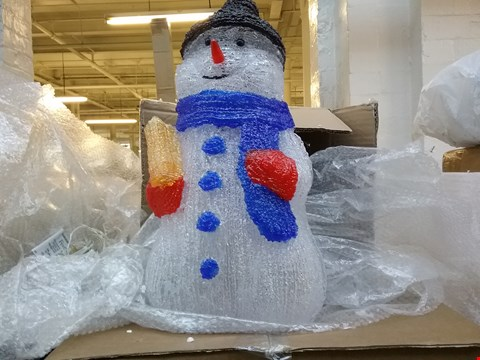 Lot 1560 BOXED ACRYLIC SNOWMAN OUTDOOR CHRISTMAS DECORATION RRP £65.00