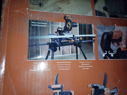 Lot 12715 EVOLUTION R255SMS+ MULTI-MATERIAL SLIDING MITRE SAW
