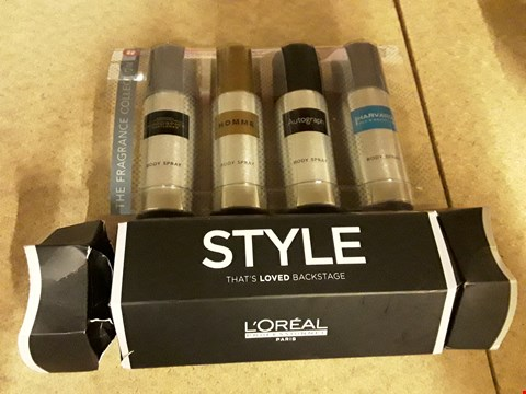 Lot 2192 LOT OF 3 ITEMS TO INCLUDE LYNX LET THE COUNTDOWN BEGIN, LOREAL PROFESSIONAL PARIS SYLE THAT'S LOVED BACKSTAGE GIFT AND M&S THE FRAGRANCE COLLECTION