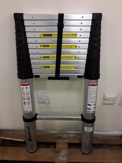 Lot 599 BUILDCRAFT 3.8M TELESCOPIC LADDER