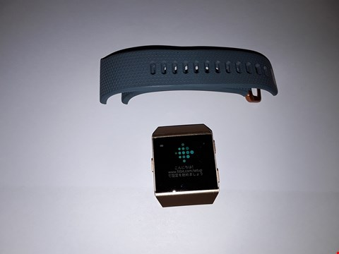Lot 725 FITBIT IONIC FB503 - BURNT ORANGE, TURQUOISE RUBBER STRAP