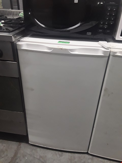 Lot 104 WHITE UNDER COUNTER FRIDGE
