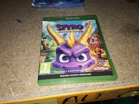 Lot 7296 SPYRO REIGNITED TRILOGY XBOX ONE  RRP £40
