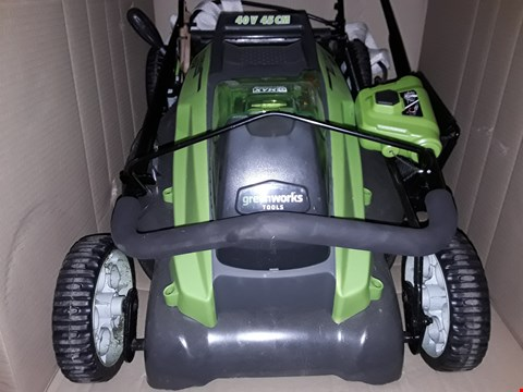Lot 14067 GREENWORKS TOOLS ELECTRIC LAWNMOWER