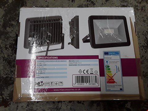 Lot 340 KNIGHTSBRIDGE 230V IP65 100W LED BLACK DIE-CAST ALUMINIUM FLOODLIGHT