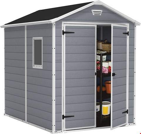 Lot 7066 BOXED GRADE 1 KETER MANOR 6X8 MAINTENANCE FREE SHED - 1 BOX RRP £429.00