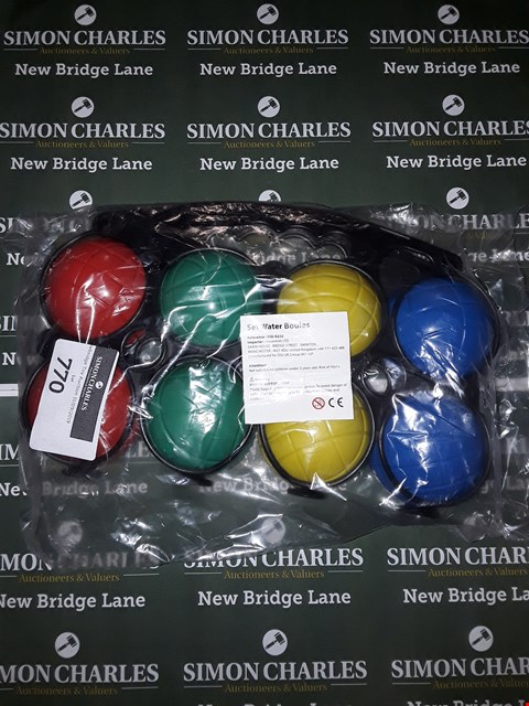 Lot 770 LOT OF 2 ASSORTED WATER BOULES SETS