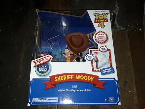 Lot 4299 GRADE 1 SHERIFF WOODY WITH INTERACTIVE DROP-DOWN ACTION FIGURE RRP £100.00
