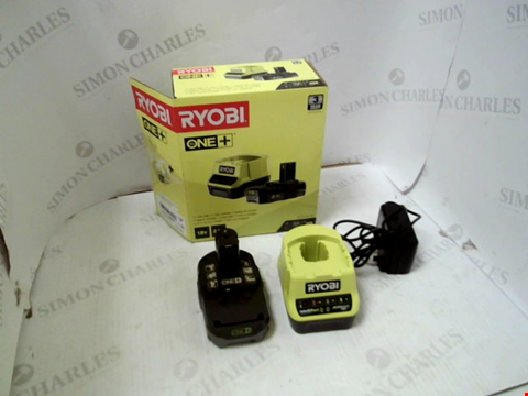 Lot 5014 RYOBI RC18120-120 18V ONE+ LITHIUM+ 2.0AH BATTERY AND CHARGER