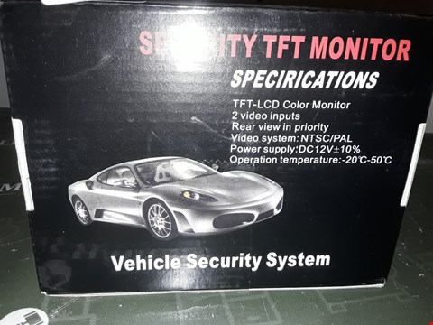 Lot 5135 SECURITY TFT MONITOR