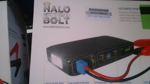 Lot 25 BOXED HALO BOLT PORTABLE CHARGER