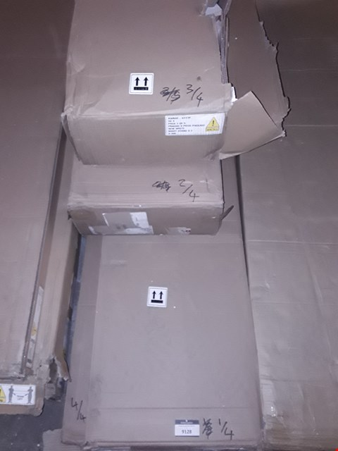 Lot 9128 BOXED PRAGUE 4 PIECE PACKAGE WHITE FURNITURE PARTS (4 BOXES)