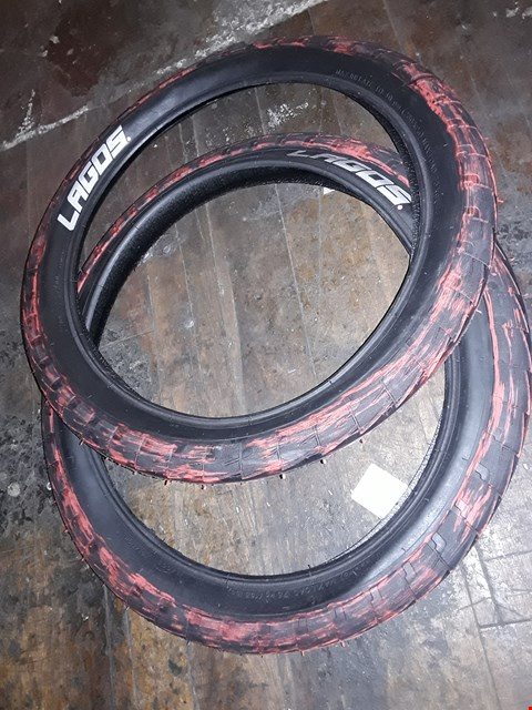 Lot 3047 PAIR LAGOS 20 × 2.4 CYCLE TYRES