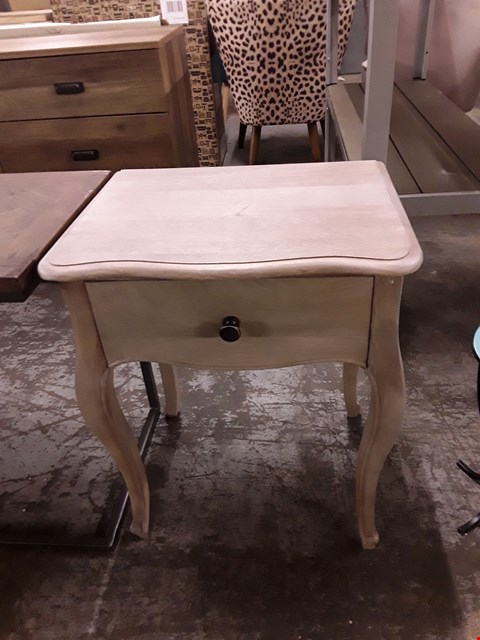Lot 7055A DESIGNER WOOD-EFFECT 1-DRAWER LAMP TABLE