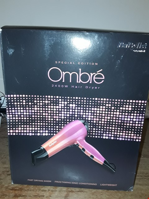 Lot 6170 BOXED BABYLISS SPECIAL EDITION OMBRE 2400W HAIR DRYER