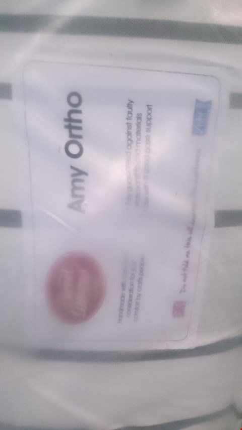 Lot 191 QUALITY BAGGED SWEET DREAMS AMY ORTHO 4'6'' MATTRESS