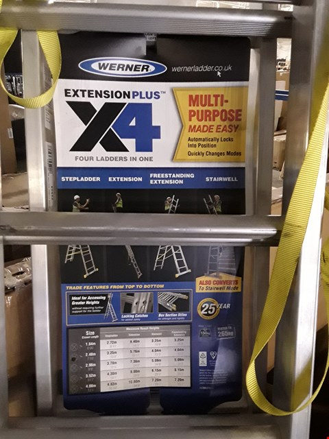 Lot 31 WERNER 3 SECTION X4 ALUMINIUM LADDER SYSTEM