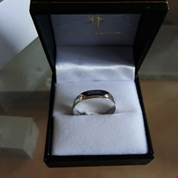 Lot 2 9 CARAT WHITE GOLD D SHAPE WEDDING BAND  RRP £199.00