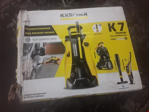 Lot 92 BOXED KARCHER K7 PREMIUM FULL CONTROL PLUS  RRP £378