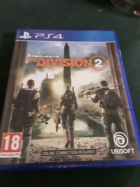 Lot 18034 THE DIVISION 2 - PS4 GAME RRP £70.00