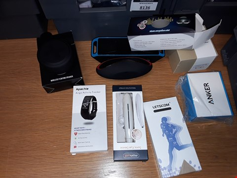 Lot 8146 A BOX OF APPROXIMATELY 10 ASSORTED ITEMS TO INCLUDE,  BLUETOOTH SPEAKERS AND ACTIVITY TRACKERS ETC