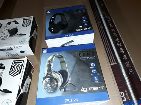 Lot 9087 2X PR04-70 GAMING HEADSETS FOR PS4
