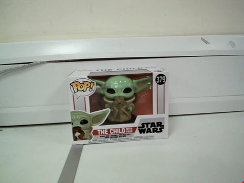 Lot 8003 BOXED POP! STAR WARS THE CHILD WITH FROG BOBBLE-HEAD FIGURE