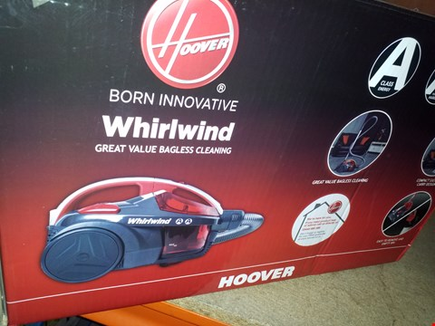 Lot 12579 HOOVER WHIRLWIND BAGLESS VACUUM CLEANER