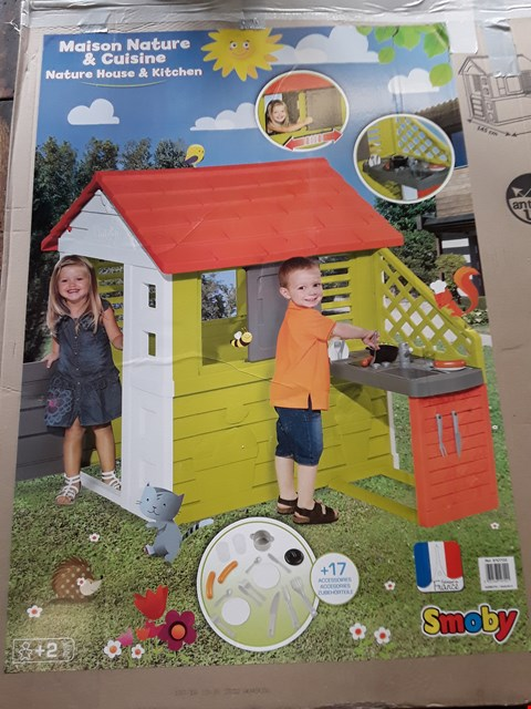 Lot 2085 BOXED GRADE 1 SMOBY NATURE PLAYHOUSE WITH KITCHEN (1 BOX) RRP £246