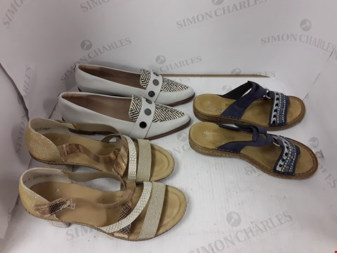 Lot 899 LOT OF 3 ASSORTED DESIGNER FOOTWEAR ITEMS TO INCLUDE 2X RIEKER AND MODA IN PELLE SIZES: 39,41,40