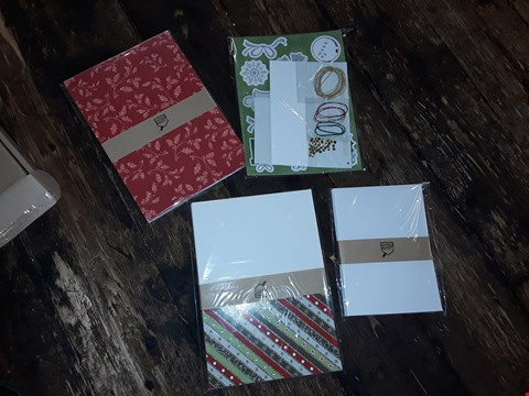 Lot 2046 LOT OF APPROXIMATELY 9 BRAND NEW CREATE AND CRAFT GLISTENING GLITTER CHRISTMAS CARD KIT (3 BOXES)